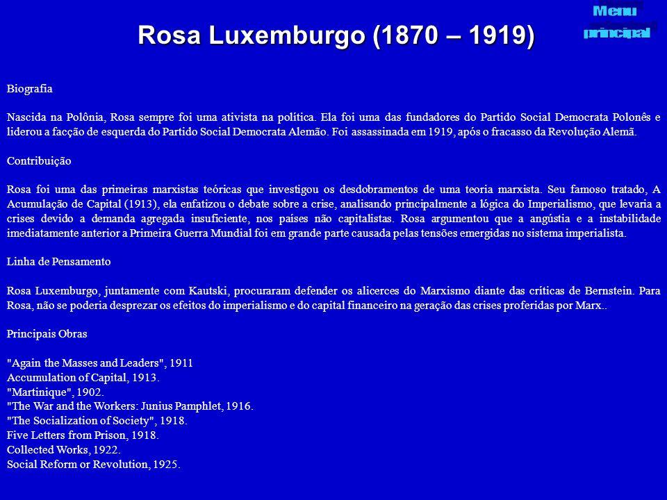 Rosa Luxemburgo (1870 – 1919) Biografia