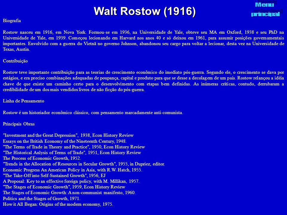 Walt Rostow (1916) Menu principal Biografia