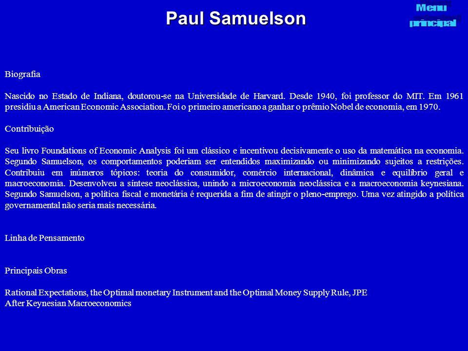 Paul Samuelson Biografia
