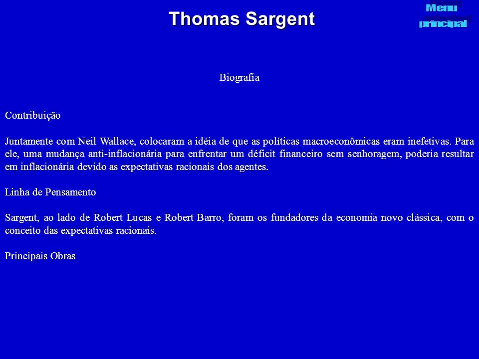 Thomas Sargent Biografia Contribuição
