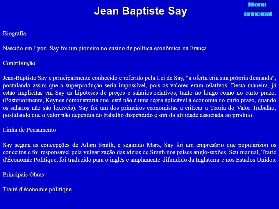 Jean Baptiste Say Biografia
