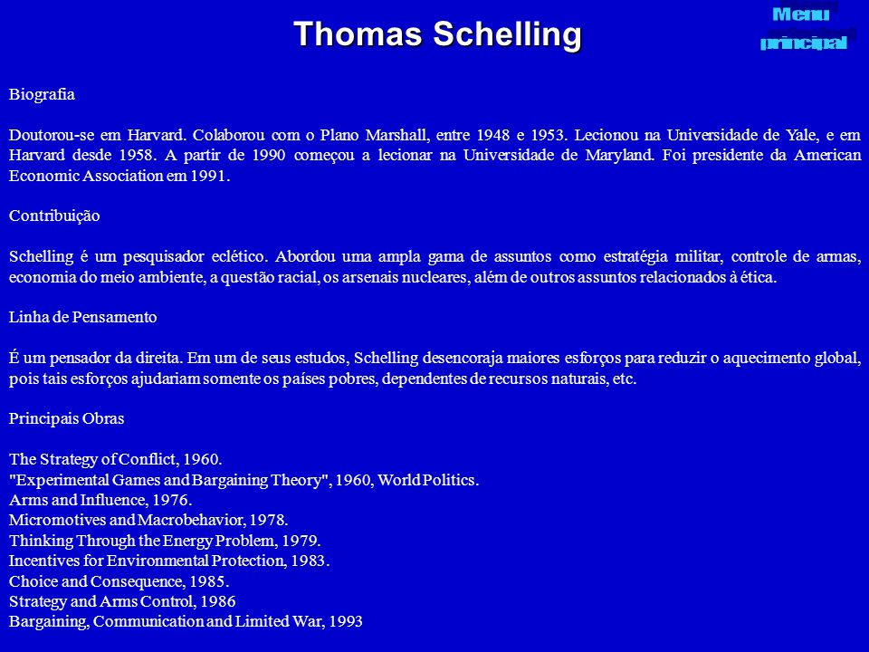 Thomas Schelling Biografia