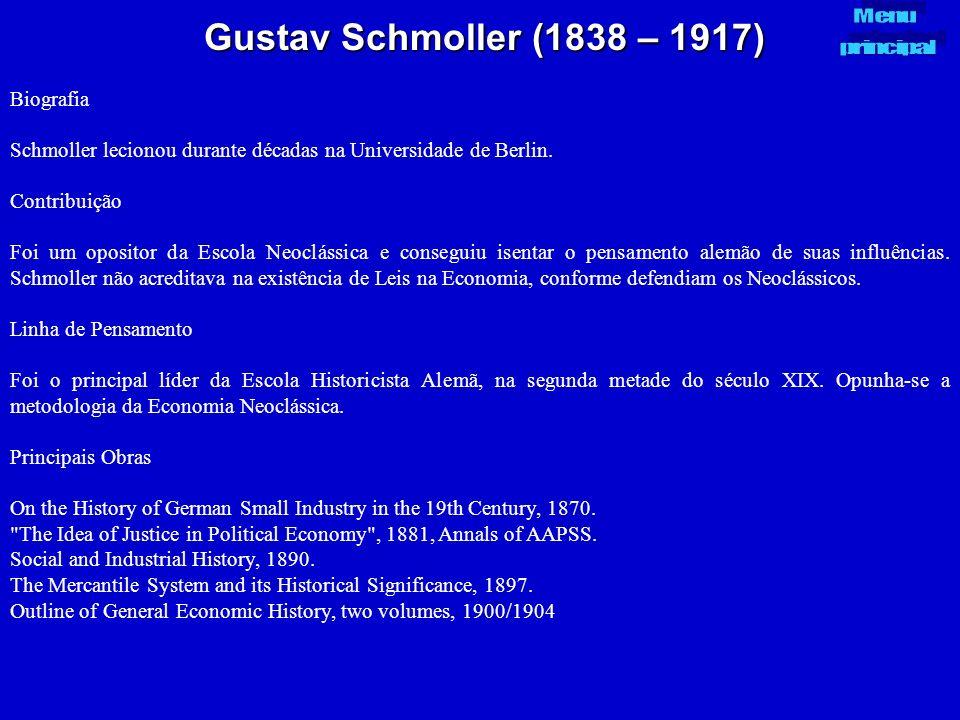 Gustav Schmoller (1838 – 1917) Biografia