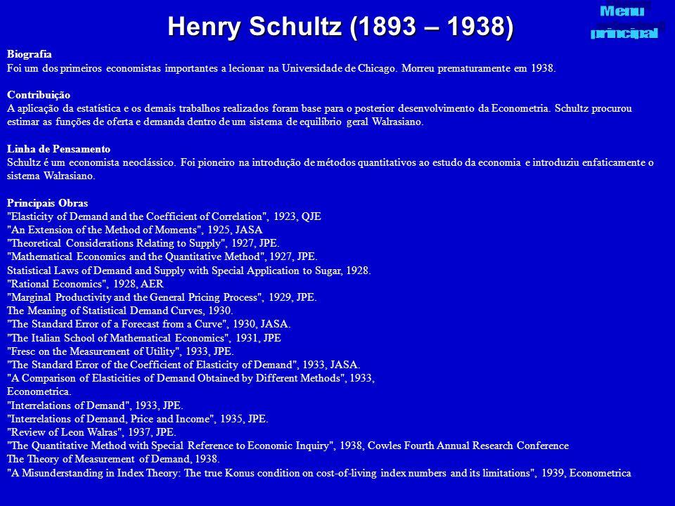 Henry Schultz (1893 – 1938) Menu principal Biografia