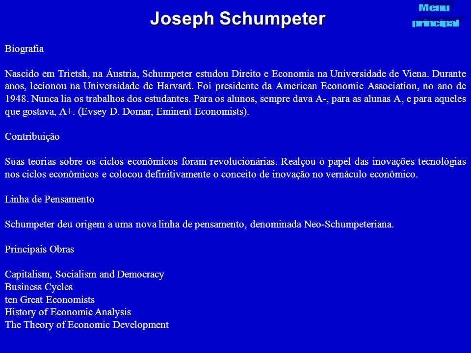 Joseph Schumpeter Biografia
