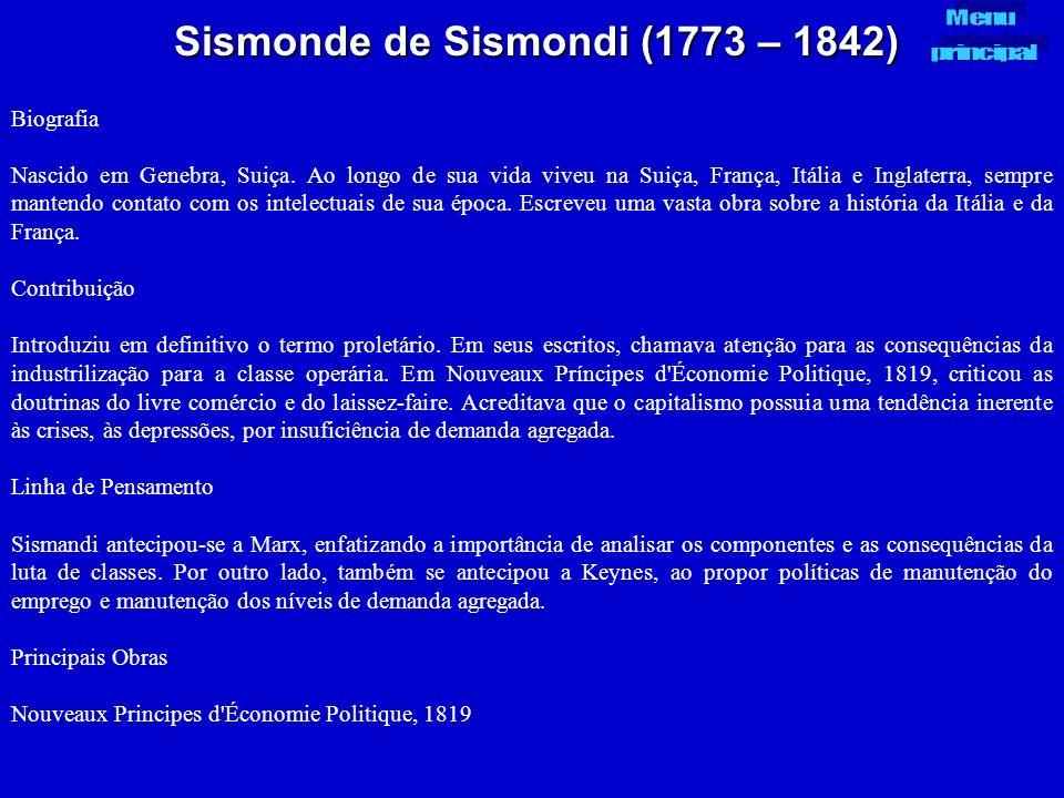 Sismonde de Sismondi (1773 – 1842)