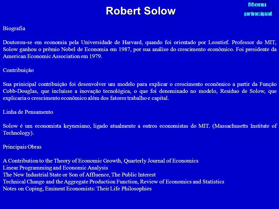 Robert Solow Biografia
