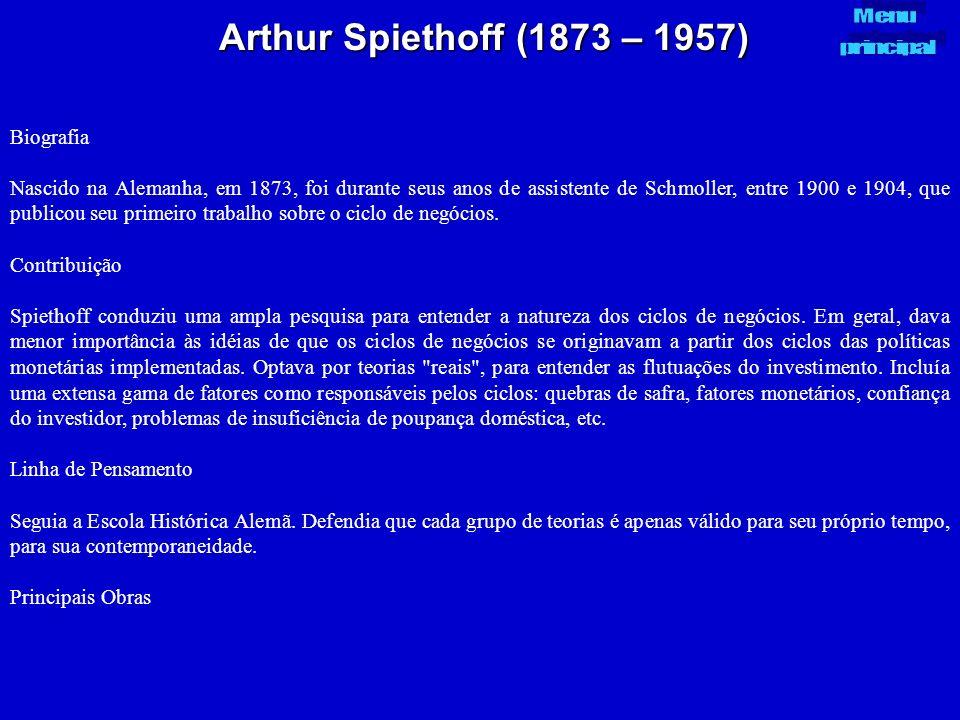 Arthur Spiethoff (1873 – 1957) Biografia