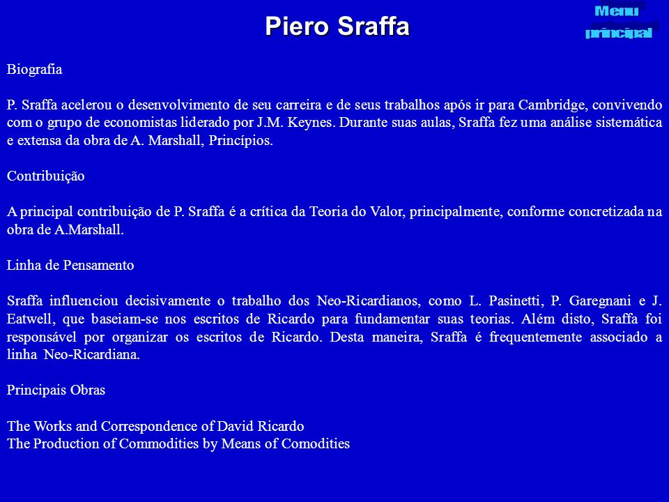 Piero Sraffa Biografia