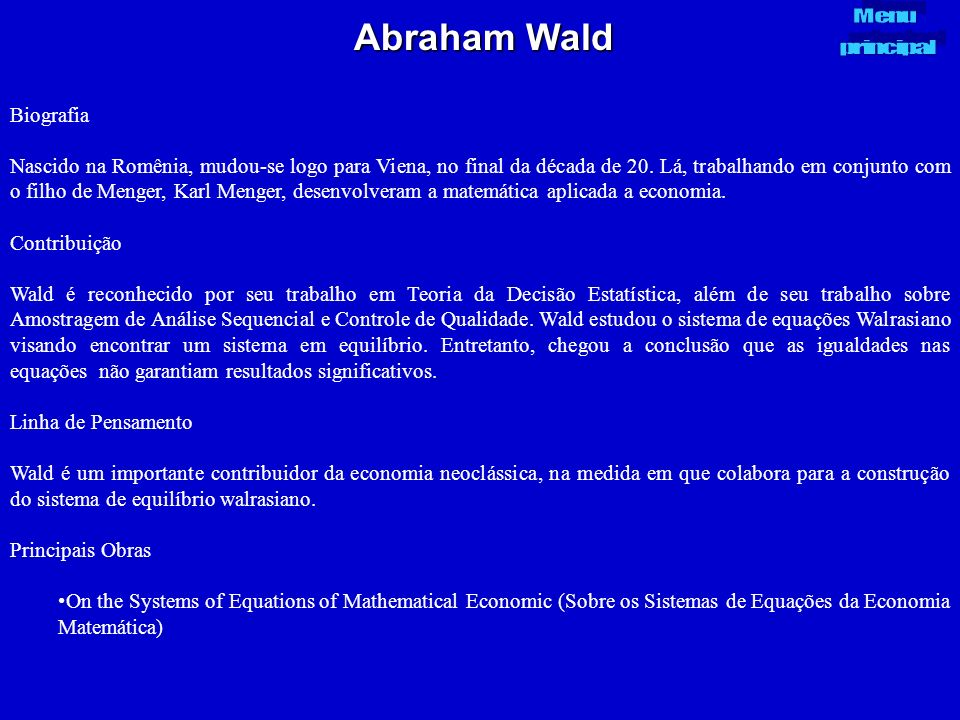 Abraham Wald Biografia