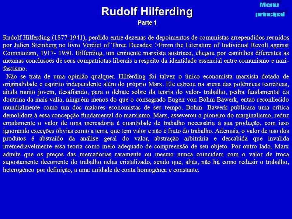 Rudolf Hilferding Parte 1. Menu. principal.