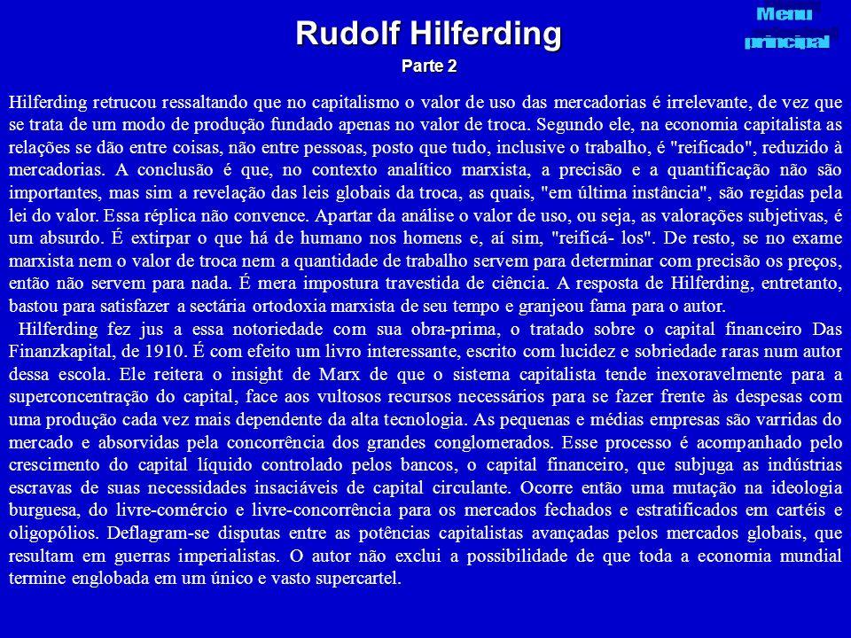 Rudolf Hilferding Parte 2. Menu. principal.