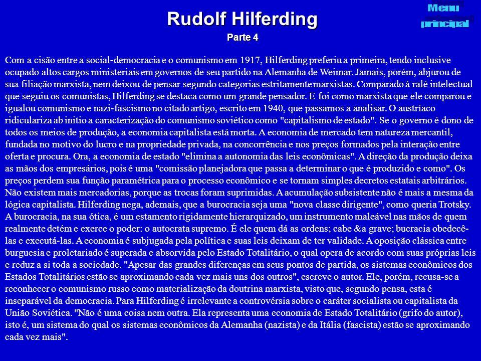 Rudolf Hilferding Parte 4. Menu. principal.