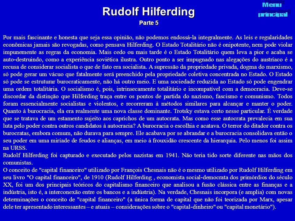 Rudolf Hilferding Parte 5. Menu. principal.