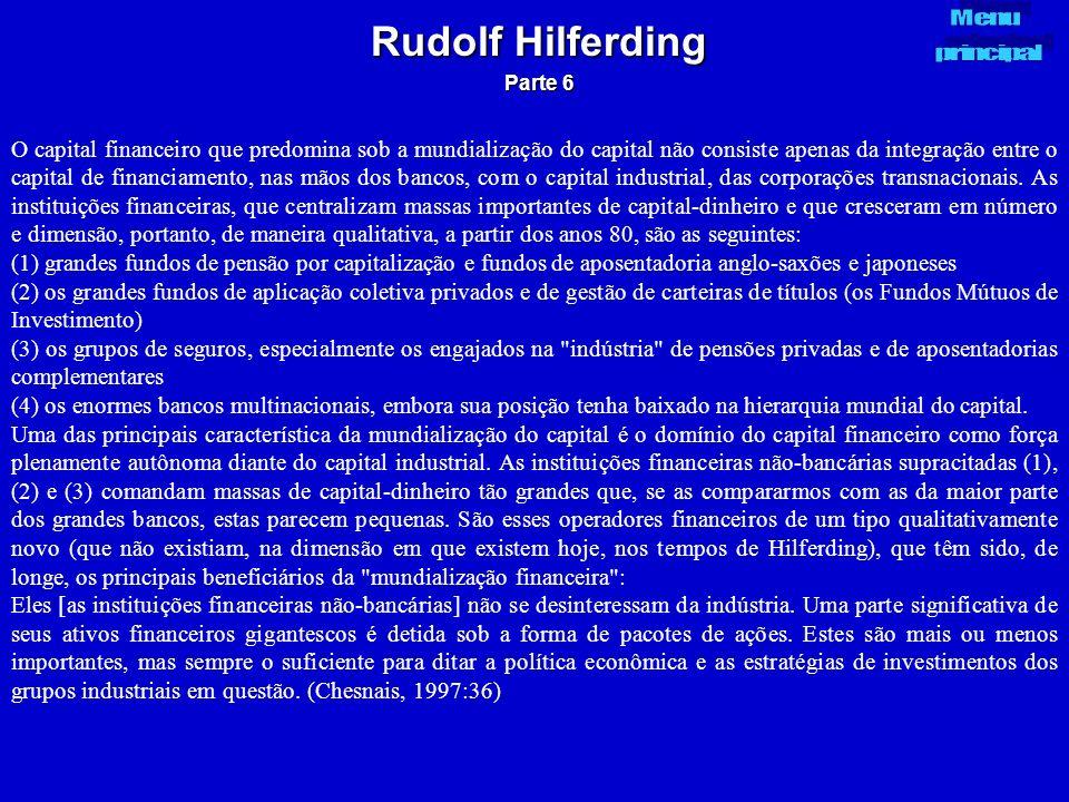Rudolf Hilferding Parte 6. Menu. principal.