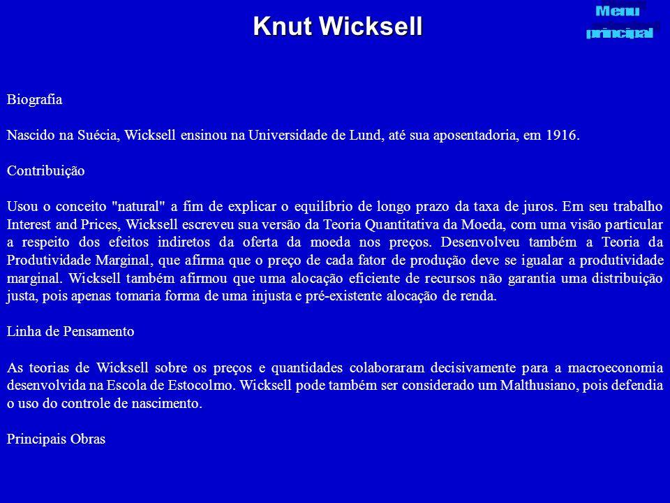 Knut Wicksell Biografia