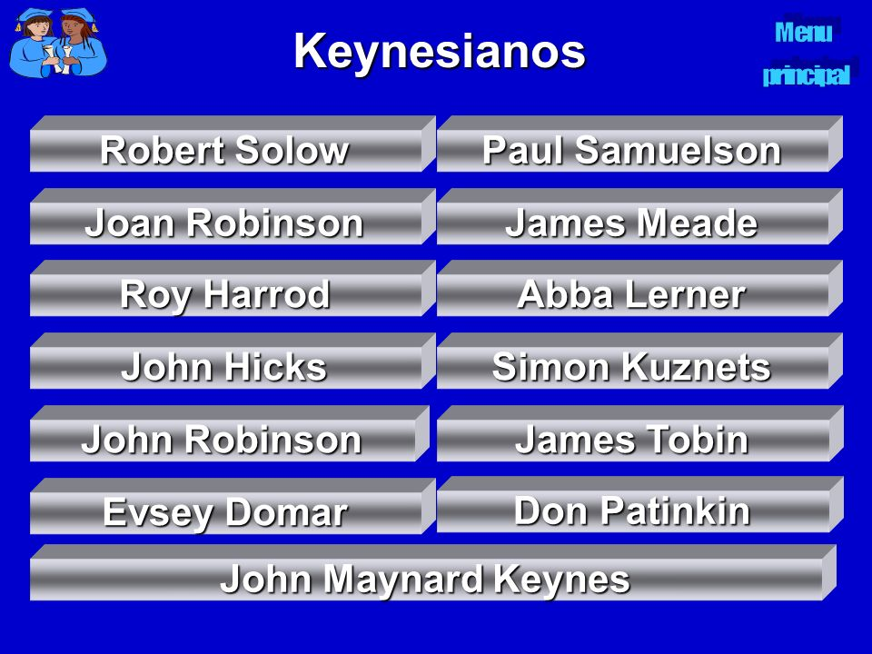 Keynesianos Robert Solow Paul Samuelson Joan Robinson James Meade