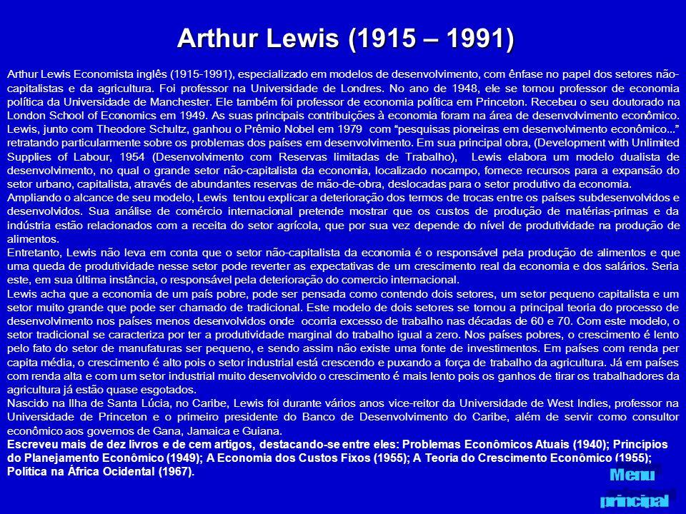 Arthur Lewis (1915 – 1991)
