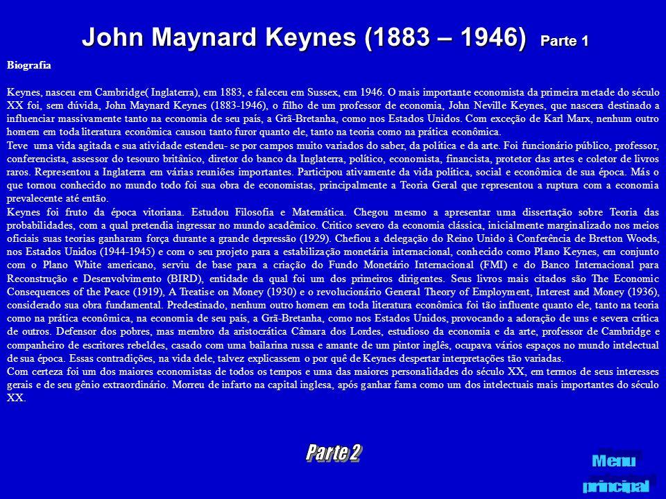 John Maynard Keynes (1883 – 1946) Parte 1