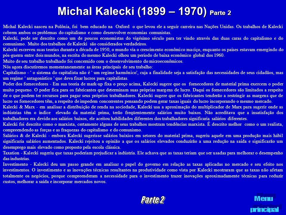 Michal Kalecki (1899 – 1970) Parte 2