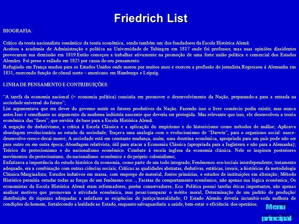 Friedrich List BIOGRAFIA: