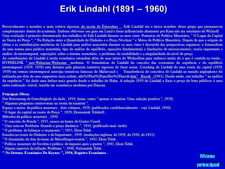 Erik Lindahl (1891 – 1960)