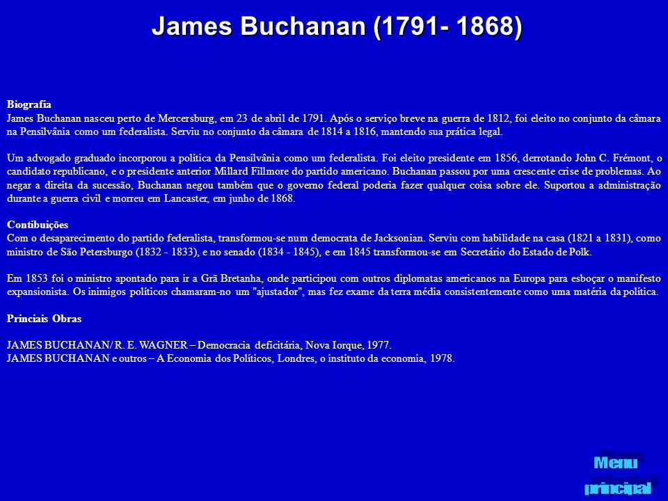 James Buchanan (1791- 1868) Biografia