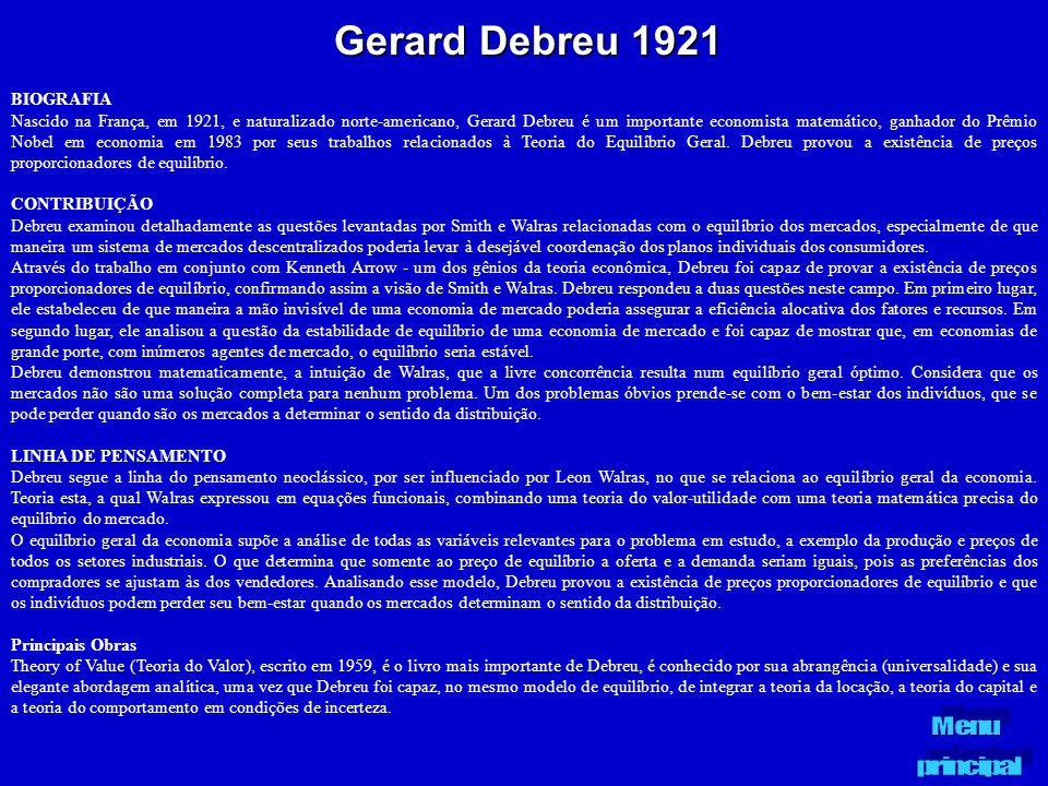 Gerard Debreu 1921 BIOGRAFIA