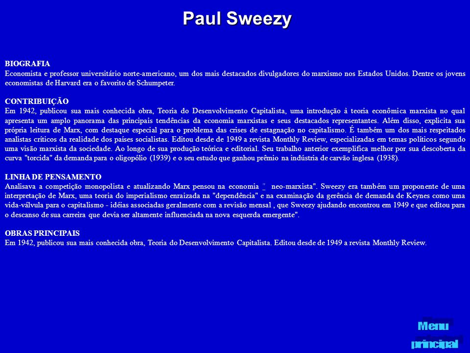 Paul Sweezy BIOGRAFIA.