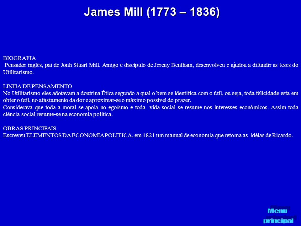 James Mill (1773 – 1836) BIOGRAFIA