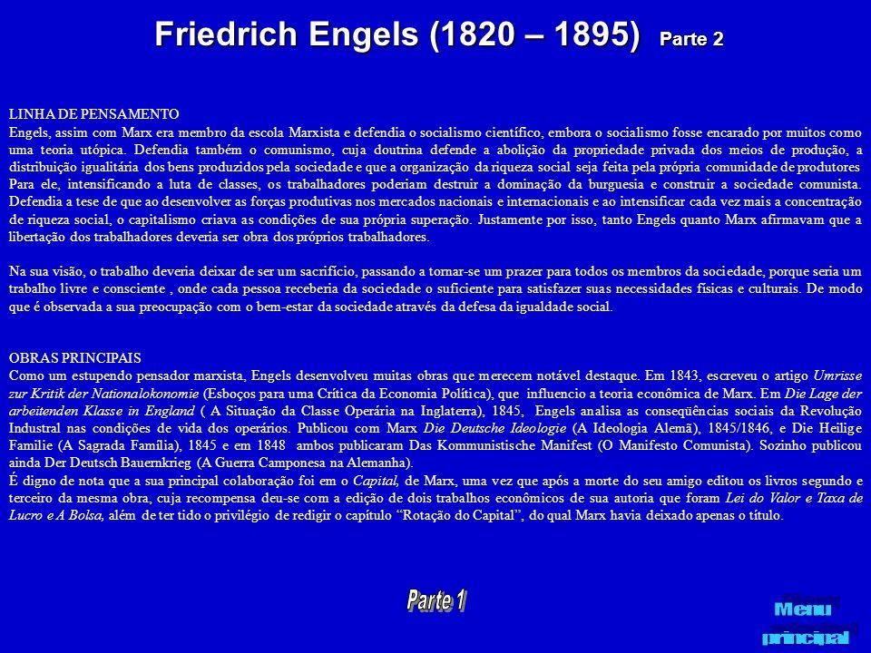 Friedrich Engels (1820 – 1895) Parte 2