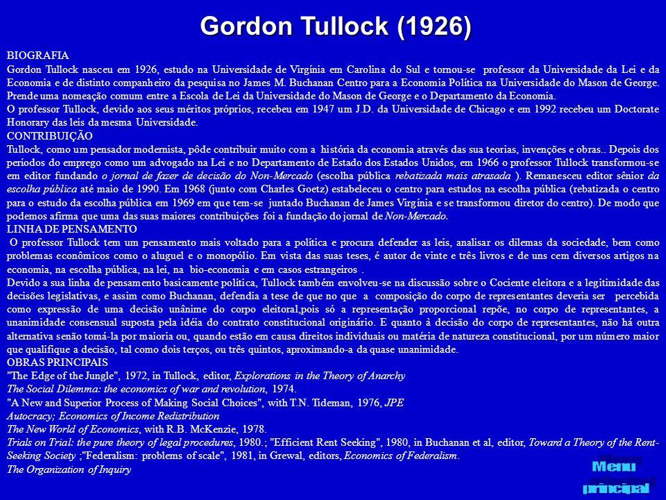 Gordon Tullock (1926) BIOGRAFIA