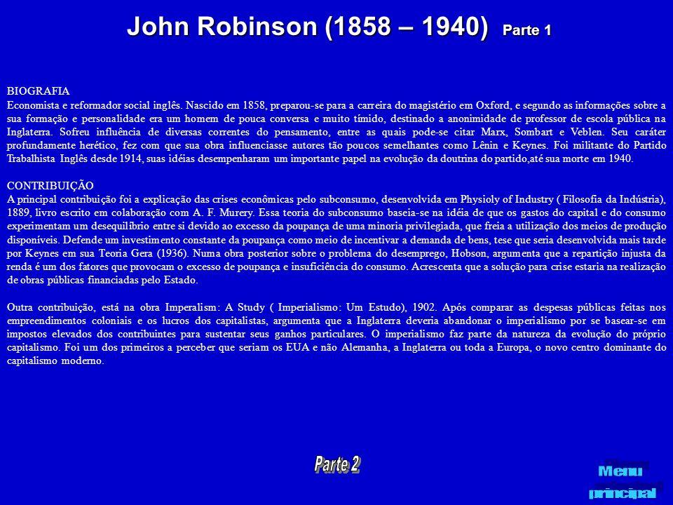 John Robinson (1858 – 1940) Parte 1
