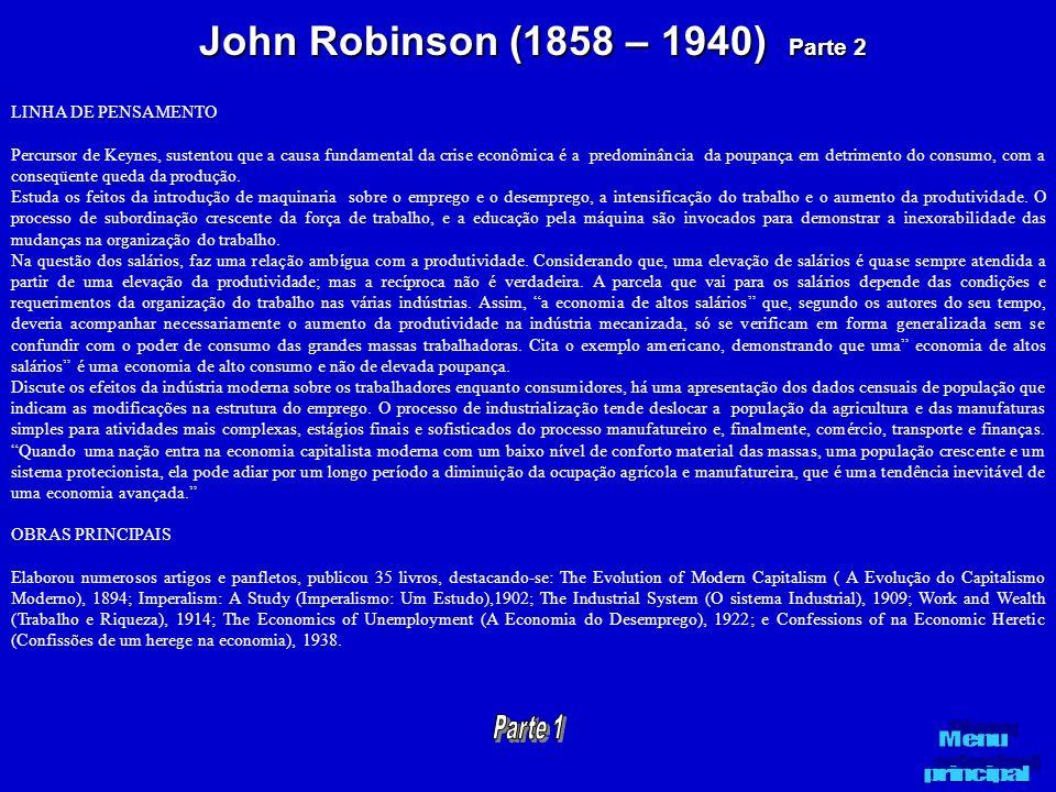 John Robinson (1858 – 1940) Parte 2