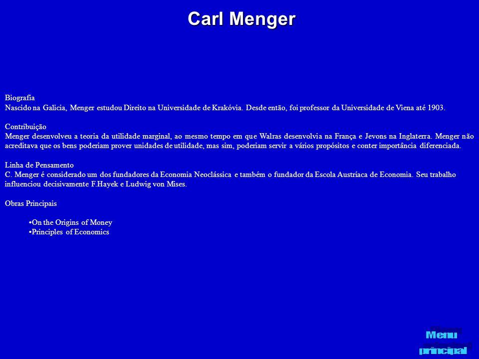 Carl Menger Biografia.