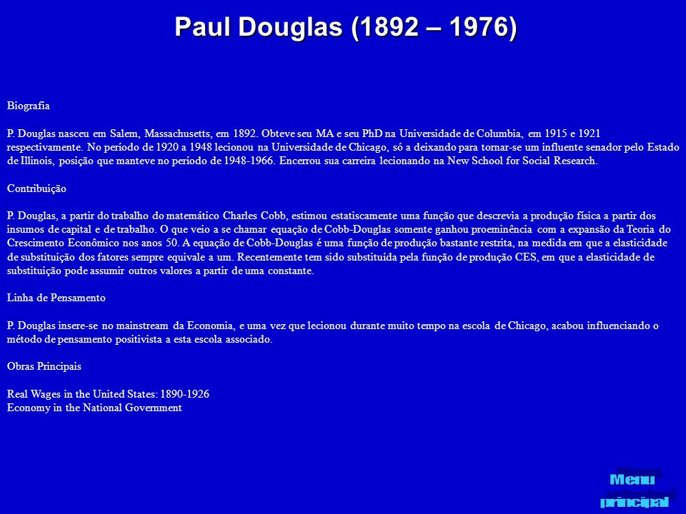 Paul Douglas (1892 – 1976) Biografia