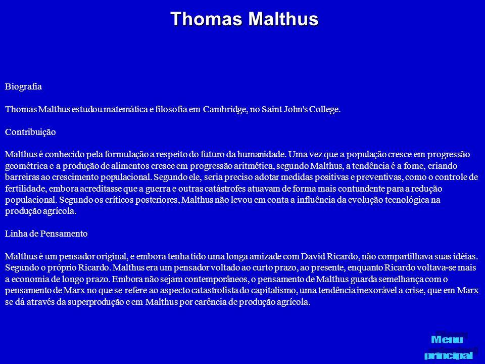 Thomas Malthus Biografia