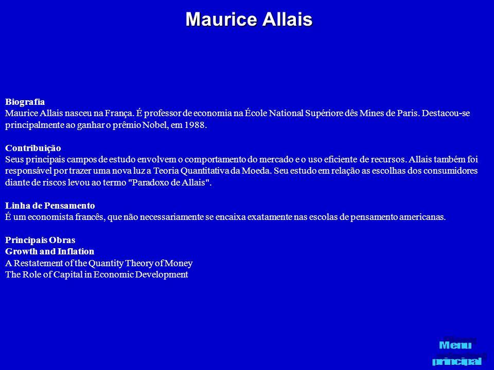 Maurice Allais Biografia