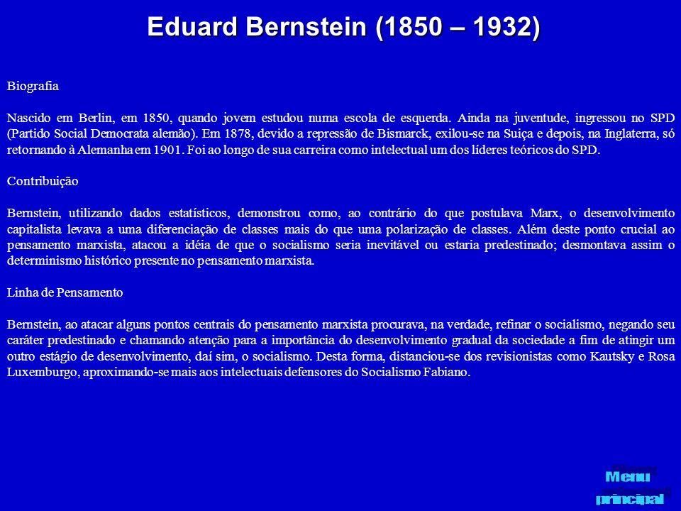 Eduard Bernstein (1850 – 1932) Biografia