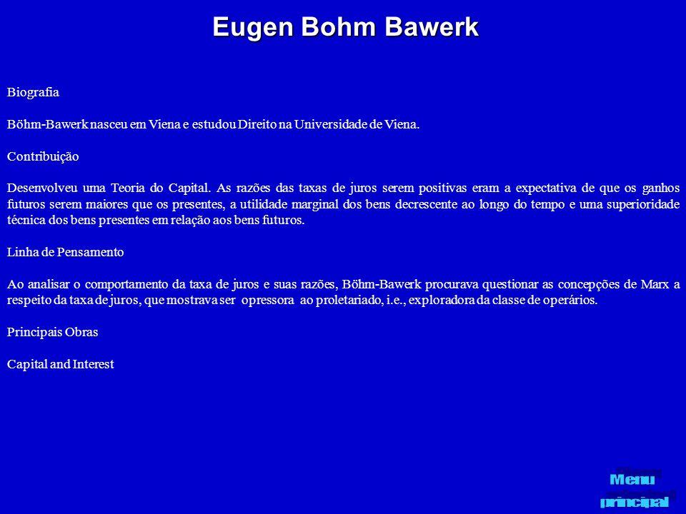 Eugen Bohm Bawerk Biografia
