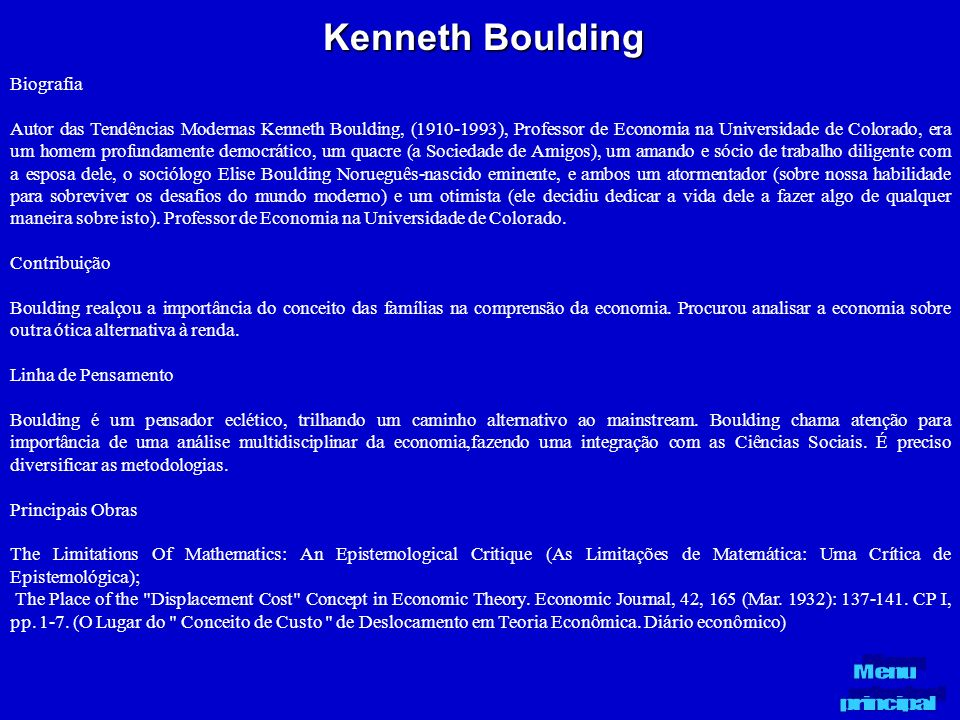 Kenneth Boulding Biografia