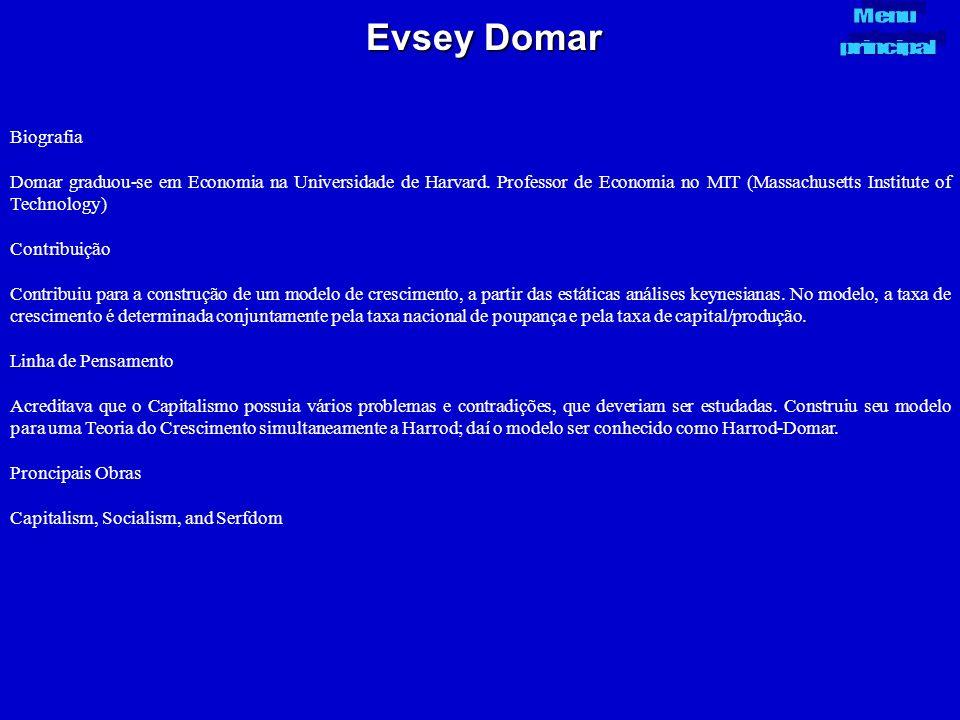 Evsey Domar Menu. principal. Biografia.