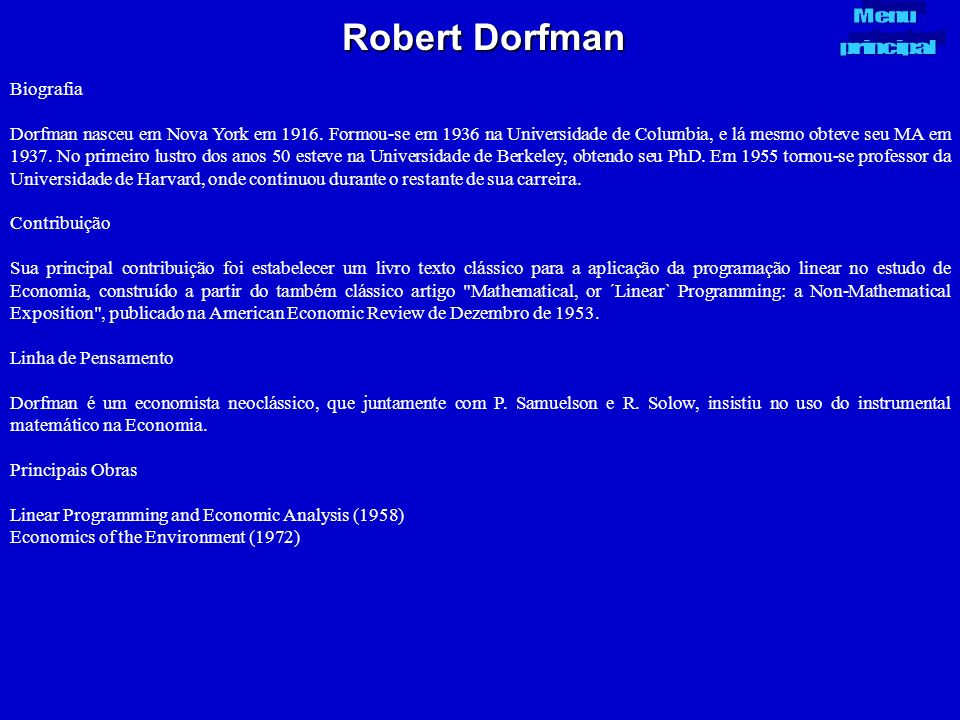 Robert Dorfman Biografia