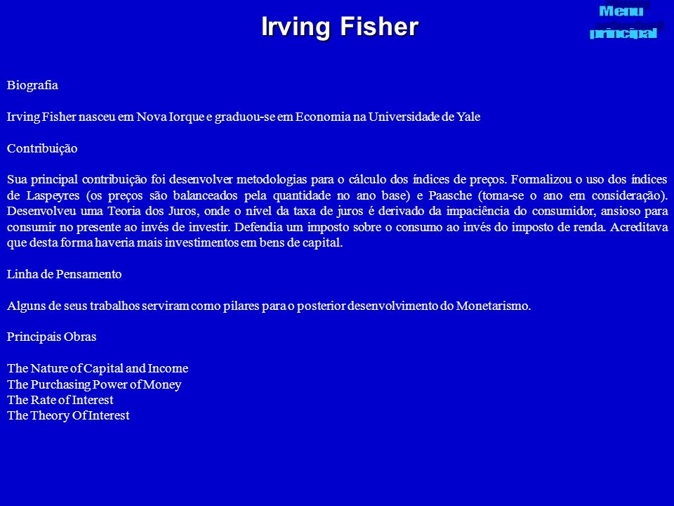 Irving Fisher Biografia