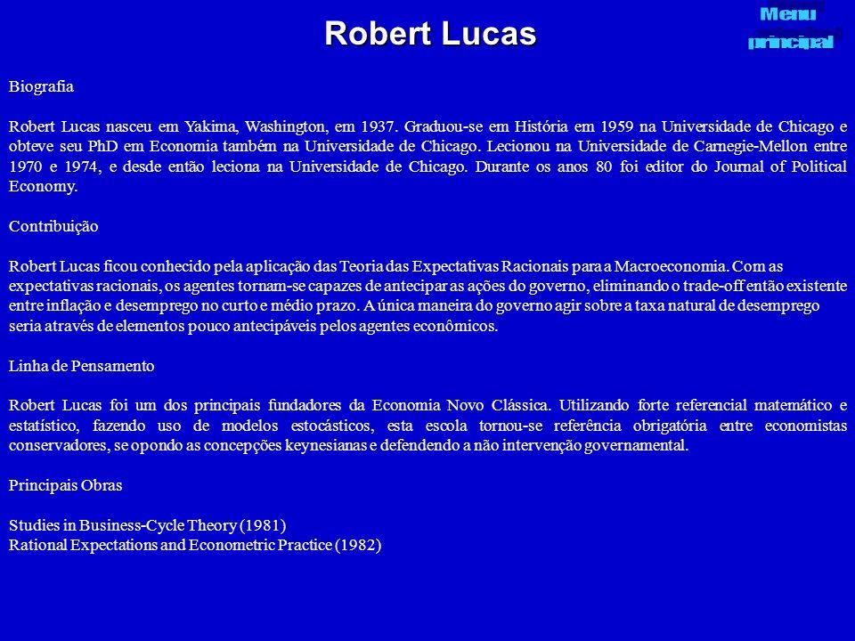Robert Lucas Biografia