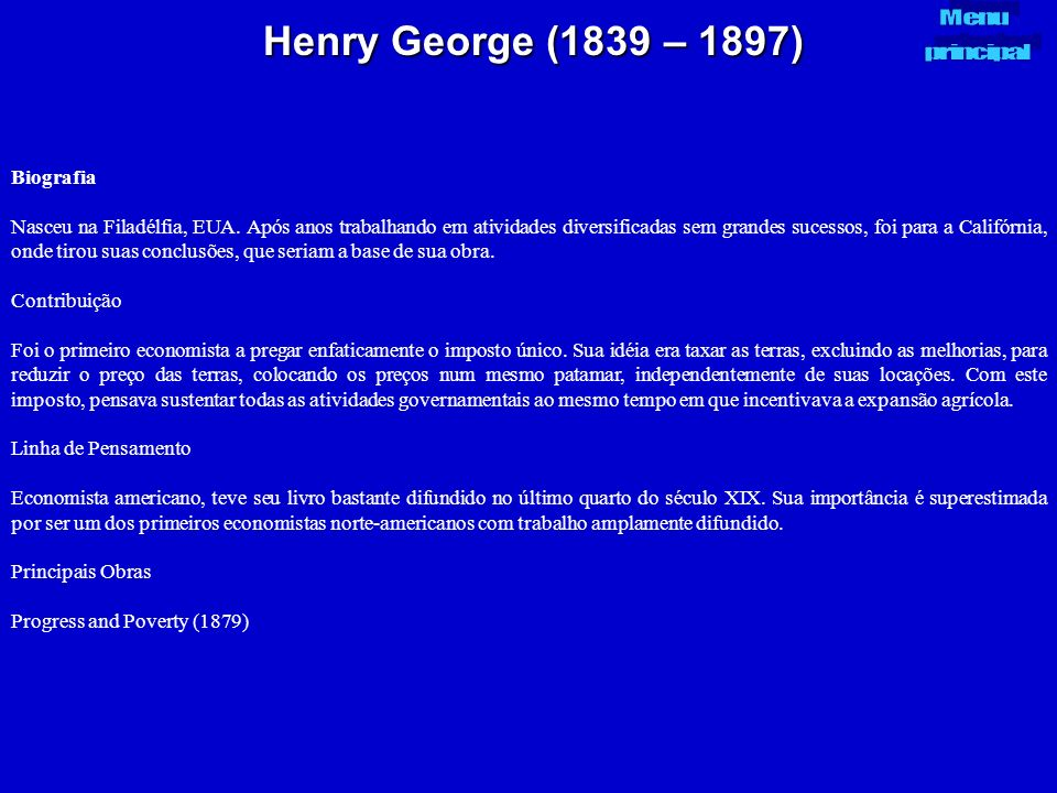 Henry George (1839 – 1897) Biografia