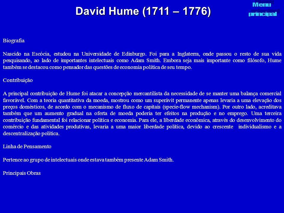 David Hume (1711 – 1776) Biografia