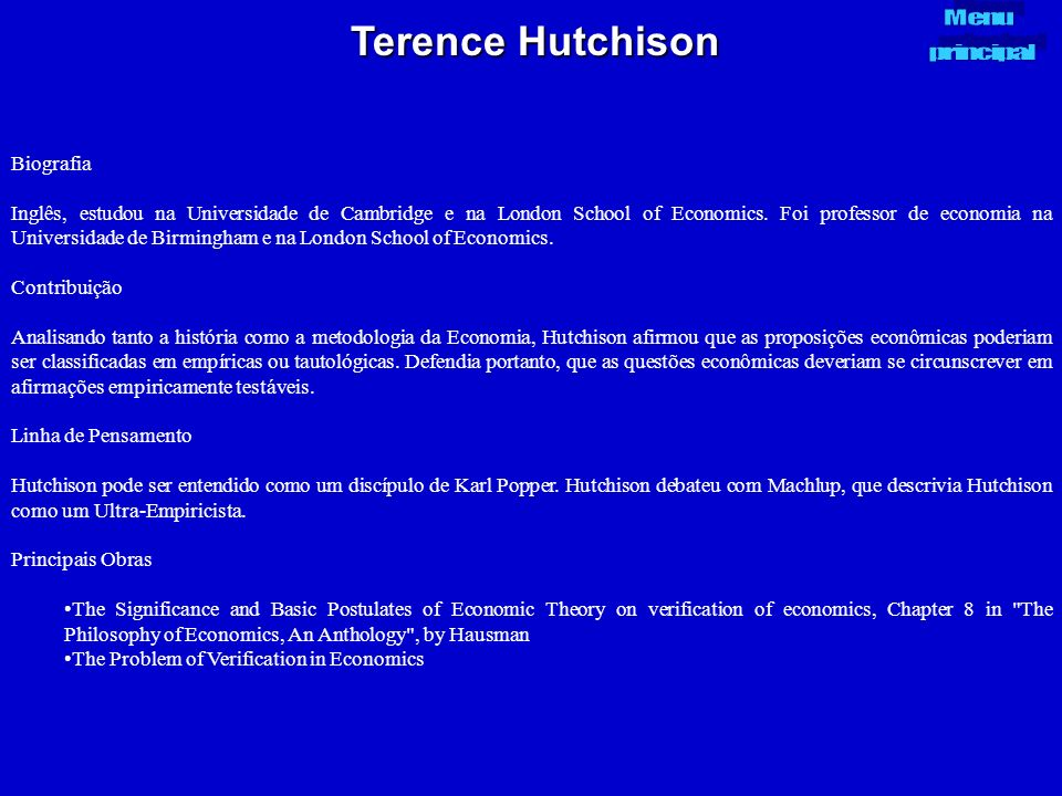 Terence Hutchison Biografia