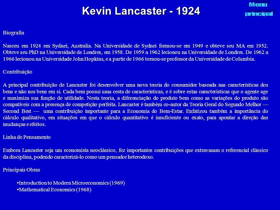 Kevin Lancaster - 1924 Biografia