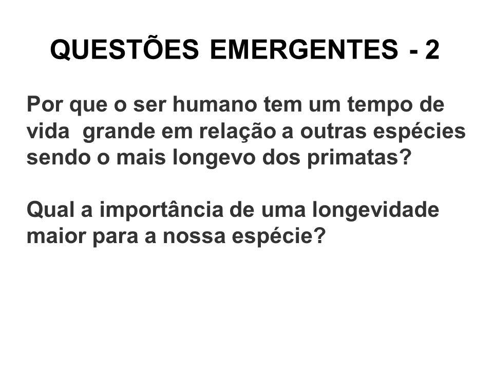 QUESTÕES EMERGENTES - 2 Por que o ser humano tem um tempo de